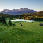 mountains-meadows-lakes-houses-alps-summer